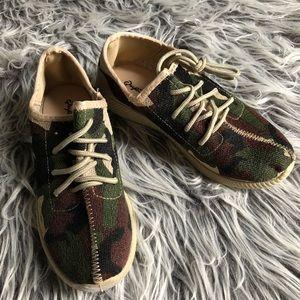 NWOT Qupid Camouflage Slip On Sneakers